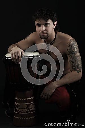 Black drummer