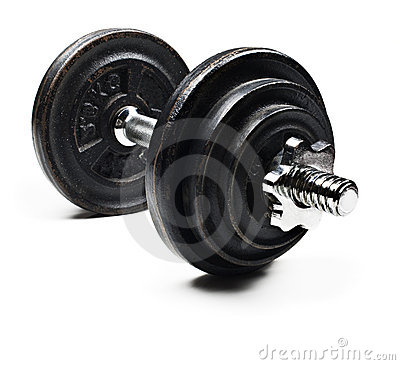 Black and  dumbbells on a white background