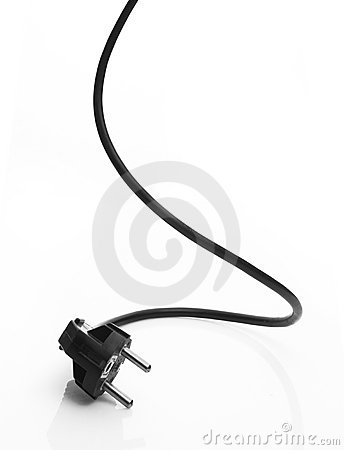 Free Black Electric Cable Royalty Free Stock Images - 22014129