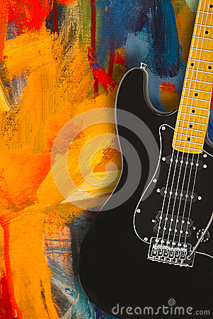 Free Black Electric Guitar Stock Images - 37836184