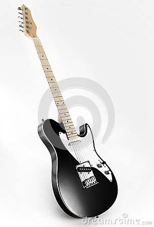 Free Black Electric Guitar Royalty Free Stock Images - 39441429