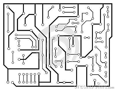 Black electronic scheme