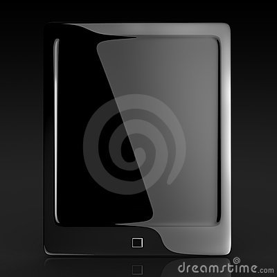 Black elegant tablet touch pad