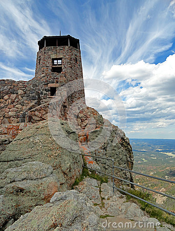 Free Black Elk Peak / Harney Peak Fire Lookout Tower In Custer State Park In Black Hills Of South Dakota Royalty Free Stock Photography - 68698857