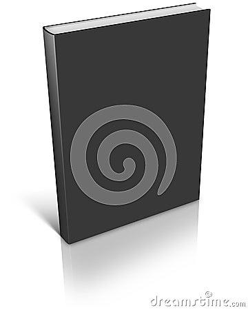 Black empty book template