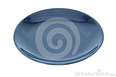 Black Empty plate