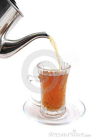 Black english tea flow