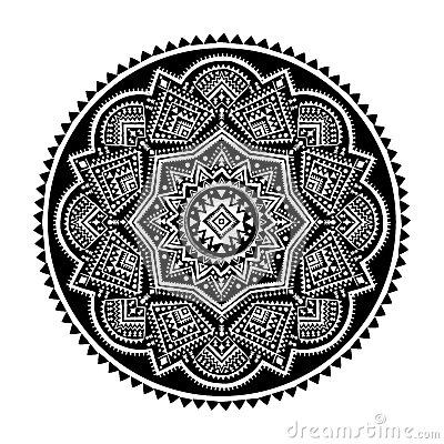 Black ethnic ornament