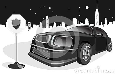Black expensive car