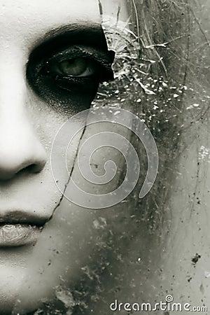 Free Black Eye And Broken Glass Stock Photos - 17603683