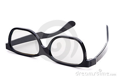 Black eye-glasses with tinted lenses