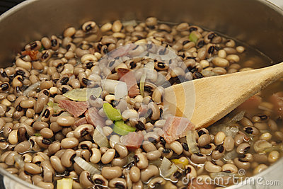 Black-eye Peas with Ham in Pot