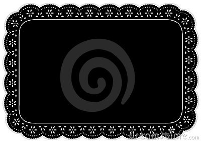 Black Eyelet Place Mat