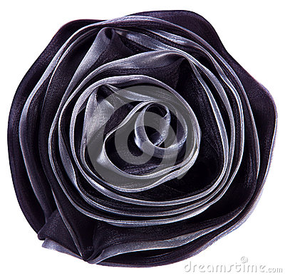 Black fabric flower rose