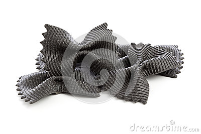 Black Farfalle Pasta Isolated
