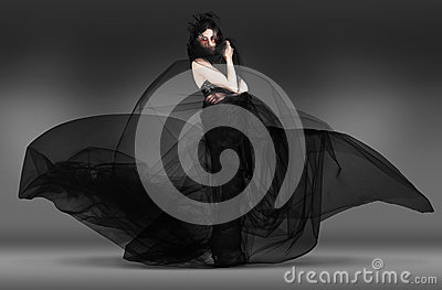 Black Fashion The Dark Movement In Motion Stock Photos - Image: 28853203