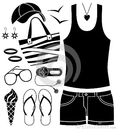 Black fashion set.
