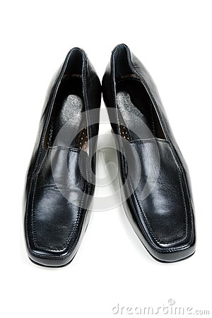 Black feminine loafers