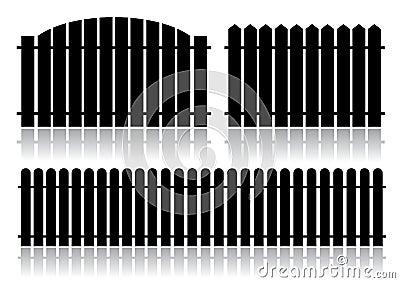 Black fence isolated on white