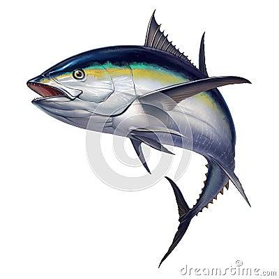 Black fin tuna Stock Photo