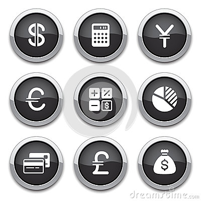 Black finance buttons