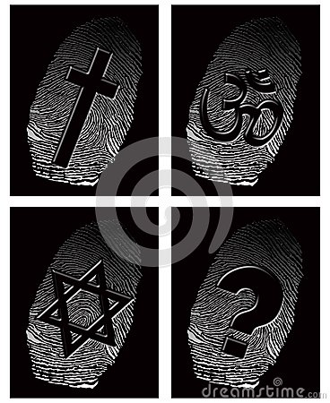 Black fingerprint and official religion