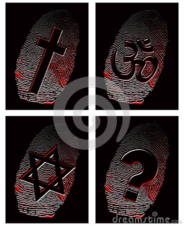 Black fingerprint and official religion