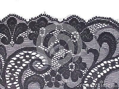 Black floral lace band