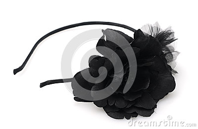 Black flower headband fashion accessory