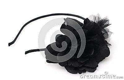 Black flower headband fashion accessory
