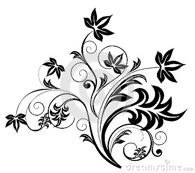 Vector line drawing flower pattern | Download free Vector