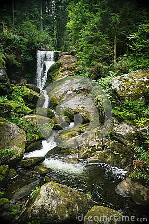 Black Forest Falls in Trieberg, Germany
