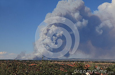 Black forest fire Editorial Stock Photo