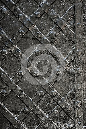 Free Black Forged Iron Door For Texture Or Background, Ancient Architecture Of Castle Gate Backdrop Stock Image - 110155631