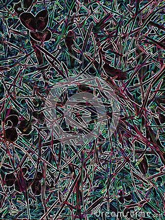 Black fractal background