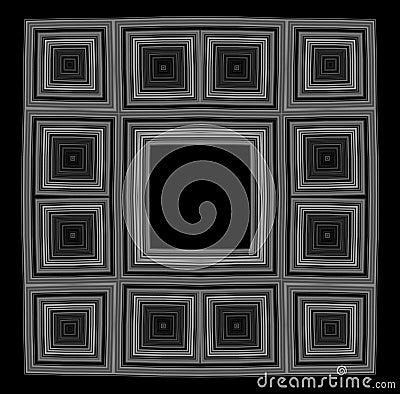 Black frame bw