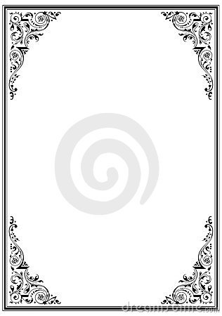 Free Black Frame With Ornament Stock Photos - 877943