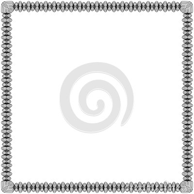 Free Black Frame With Swirl Lines Stock Images - 109880664