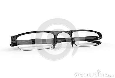 Black framed fashion glasses