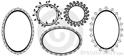 Black frames with tracery - vector