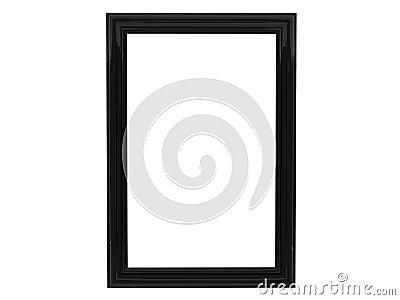 Black framework for pictures