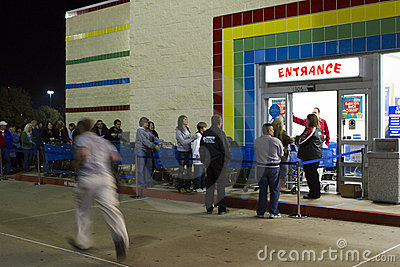 Black Friday 2011 Editorial Image