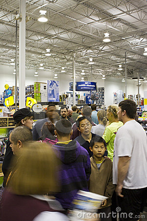 Black Friday 2011 Editorial Image