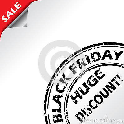 Black friday advertising with grunge seal