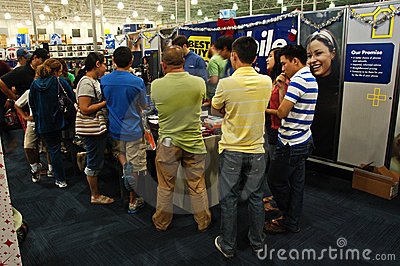 Black Friday at Best Buy Editorial Image
