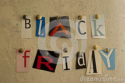 Black Friday cut outs