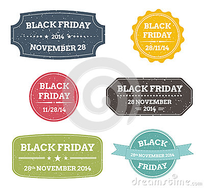 Black friday labels