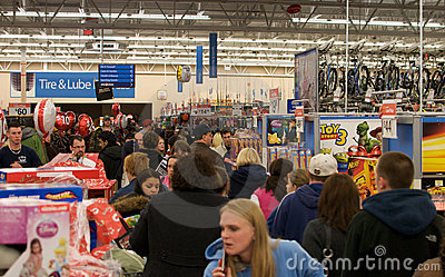 Black Friday Madness Editorial Stock Photo