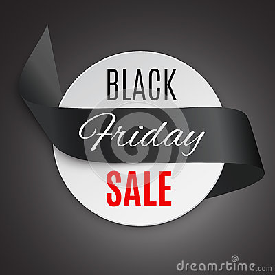 Free Black Friday Ribbon Royalty Free Stock Photos - 79262098