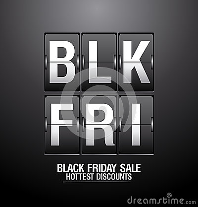 Free Black Friday Sale Analog Flip Clock. Royalty Free Stock Photos - 34123198
